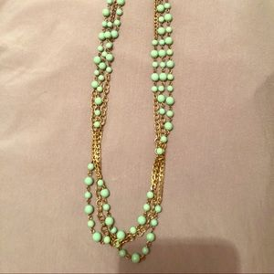 J Crew layered beaded necklace